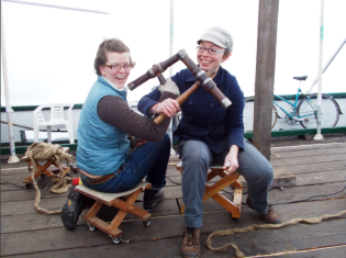 Corking Workshop Volunteers Locking Mallets